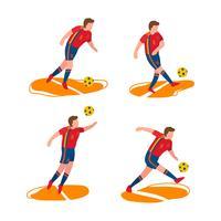 Spanischer Fußball-Charakter-Vektor vektor