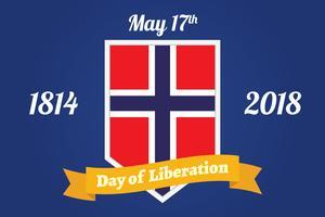 Norska frihetsdagen Bakgrund vektor