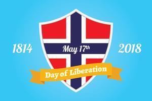 Norwegischer Tag der Befreiung Hintergrund vektor