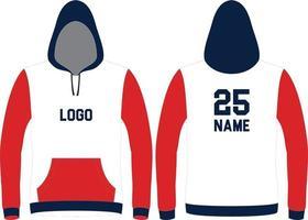 Langarm Hoodie Design vektor