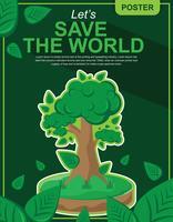 Denken Sie grünes Plakat-Design vektor