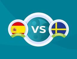 matchen mellan Spanien och Sverige vektor