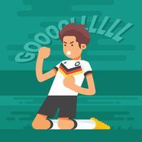Deutsche Fußball-Zeichen-Illustration