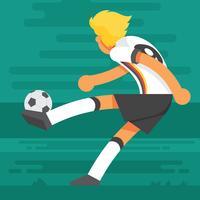 Deutsche Fußball-Charakter-Illustration vektor