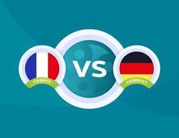 Frankrike vs Tyskland fotboll vektor