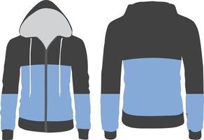 Langarm Hoodie Custom Design vektor