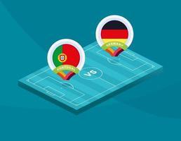 Portugal vs Tyskland fotboll vektor