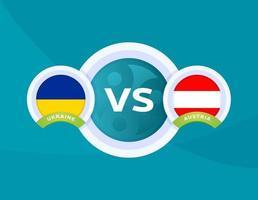 Ukraina vs Österrike match vektor