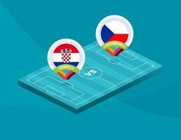 Kroatien vs Tjeckien vektor