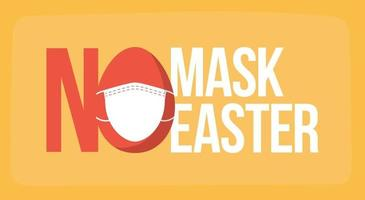 Ostern und Coronavirus. keine Maske kein Eintrag vektor