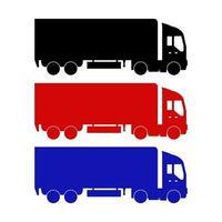 uppsättning lastbilar på vit bakgrund