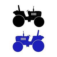 uppsättning av traktor på vit bakgrund