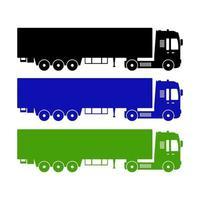 Satz von Lastwagen auf weißem Hintergrund vektor