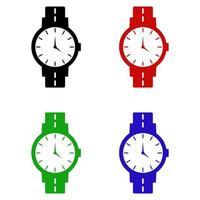 Armbanduhr auf weißem Hintergrund vektor