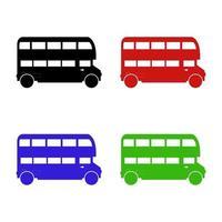 uppsättning engelsk buss på vit bakgrund