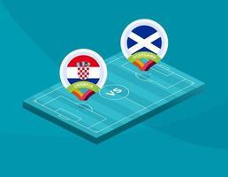 fotbollslandslagsmatch kontra vektor