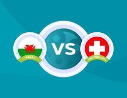 Wales gegen die Schweiz vektor