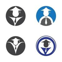 utbildning logotyp design set