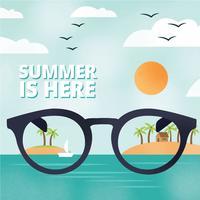 Tropisk sommar semester bakgrund vektor