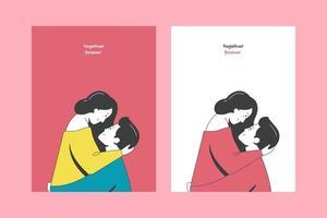 Valentinstag Illustrationen für Karten Poster oder Aufkleber vektor