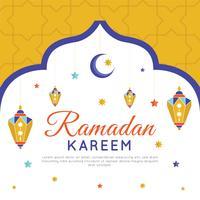 Bunter Ramadan-Hintergrund-Vektor vektor