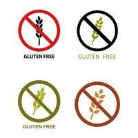 glutenfreies Symbol auf weißem Hintergrund vektor