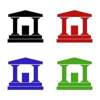 Bank auf weißem Hintergrund eingestellt vektor