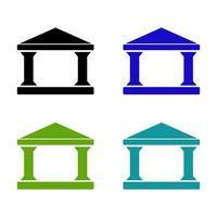 bankuppsättning på vit bakgrund