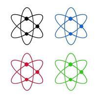 Atom auf weißem Hintergrund vektor