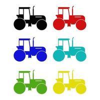 traktor på vit bakgrund