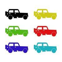 Jeep auf weißem Hintergrund vektor