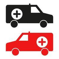 Krankenwagen auf weißem Hintergrund vektor