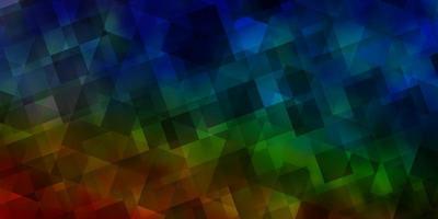 ljus flerfärgad vektorbakgrund med månghörnigt stil. vektor