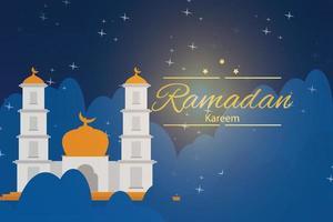 illustration design för att fira månaden ramadan vektor