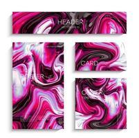 abstrakte flüssige Malerei, kann als trendiger Hintergrund für Tapeten, Poster, Karten, Einladungen, Websites verwendet werden. vektor