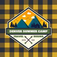 Unika Summer Camp Patch Vectors