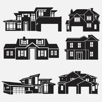 Haus im flachen Stil Vektorvorlagen gesetzt vektor