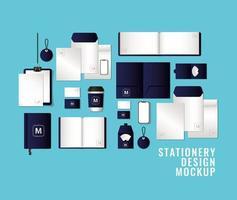 modernt brevpapper mock-up mall pack vektor