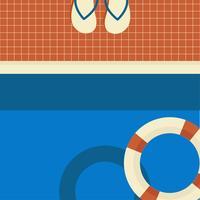 vintage swimmingpool vektor