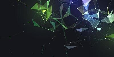abstraktes Banner mit niedrigem Polyplexus-Design vektor