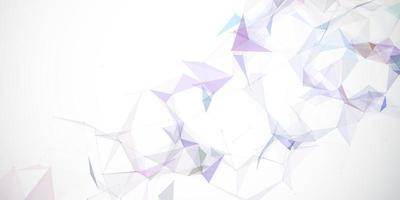 abstraktes niedriges Poly-Bannerdesign vektor