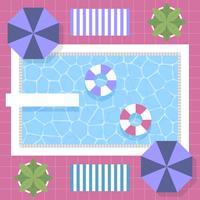 Art-Swimmingpool-Draufsicht-Design der Weinlese-Art-80s mit Hintergrund