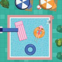 Weinlese-Swimmingpool vektor