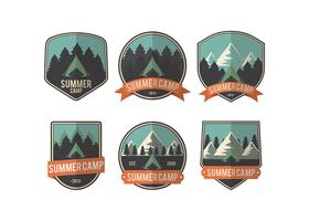 Sommer Camp Patch Vektor