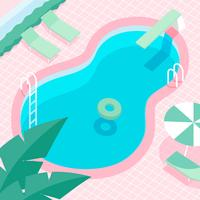 Weinlese-Swimmingpool-Vektor vektor