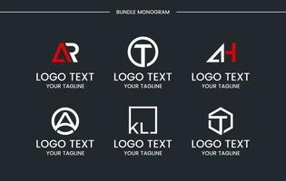 monogram set logo design vektor