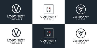 Monogramm Set Logo Design-Vorlage. vektor