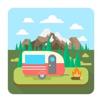 Camping in der Natur vektor