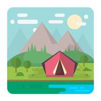 Flache Campinglandschaft