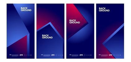 Vektor bunte abstrakte einfache Hintergrundfahne